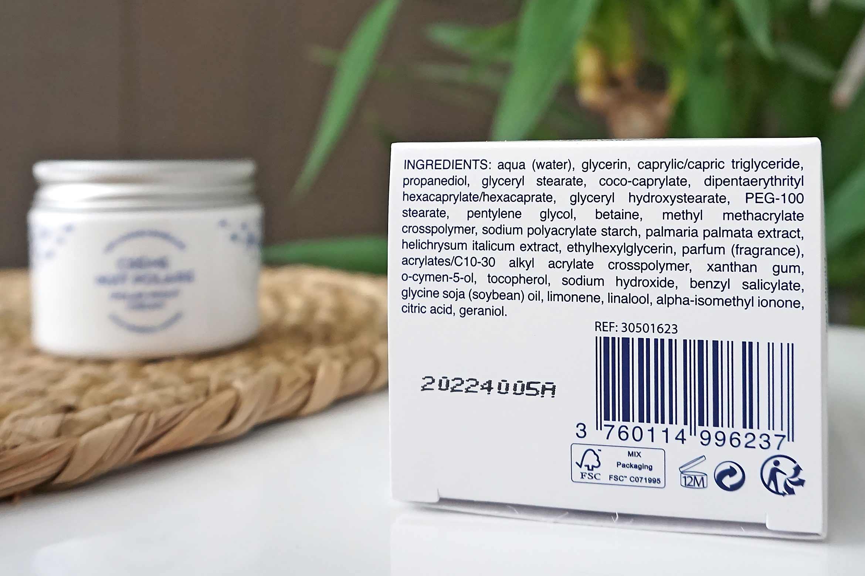 polaar polar night face cream ingredienten review nuit polaire