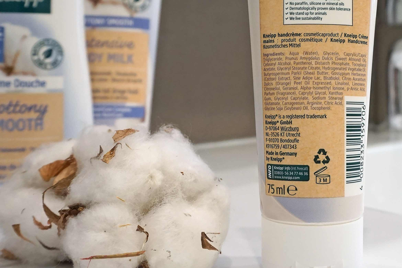 kneipp cottony smooth intensive handcreme review ingredienten