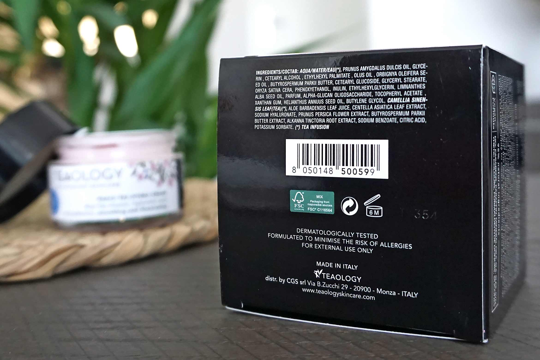 teaology peach tea hydra cream ingredienten review