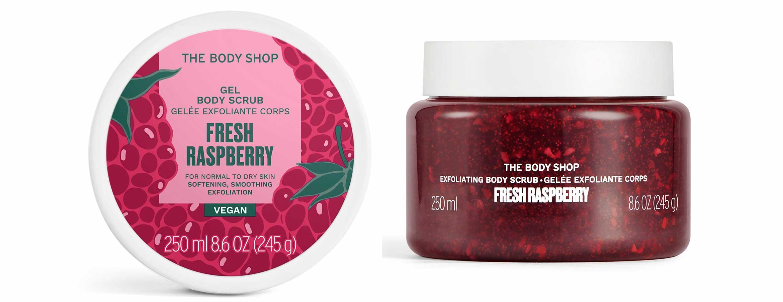 the body shop fresh raspberry exfoliating body scrub