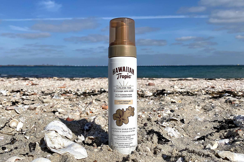 hawaiian tropic sunless tan self-tanning foam review