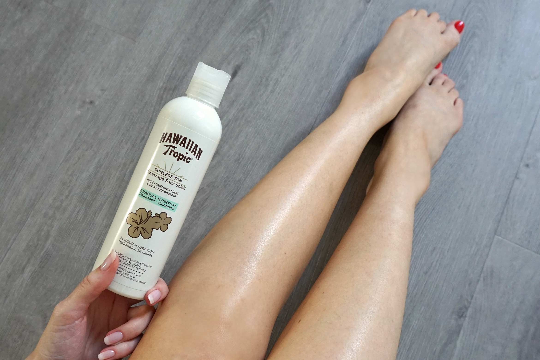 hawaiian tropic sunless tan self-tanning milk review-result-effect