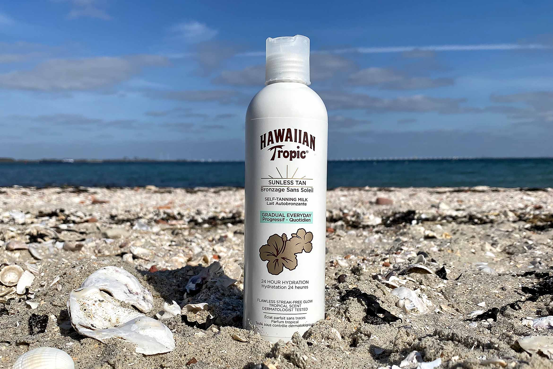 hawaiian tropic sunless tan self-tanning milk review