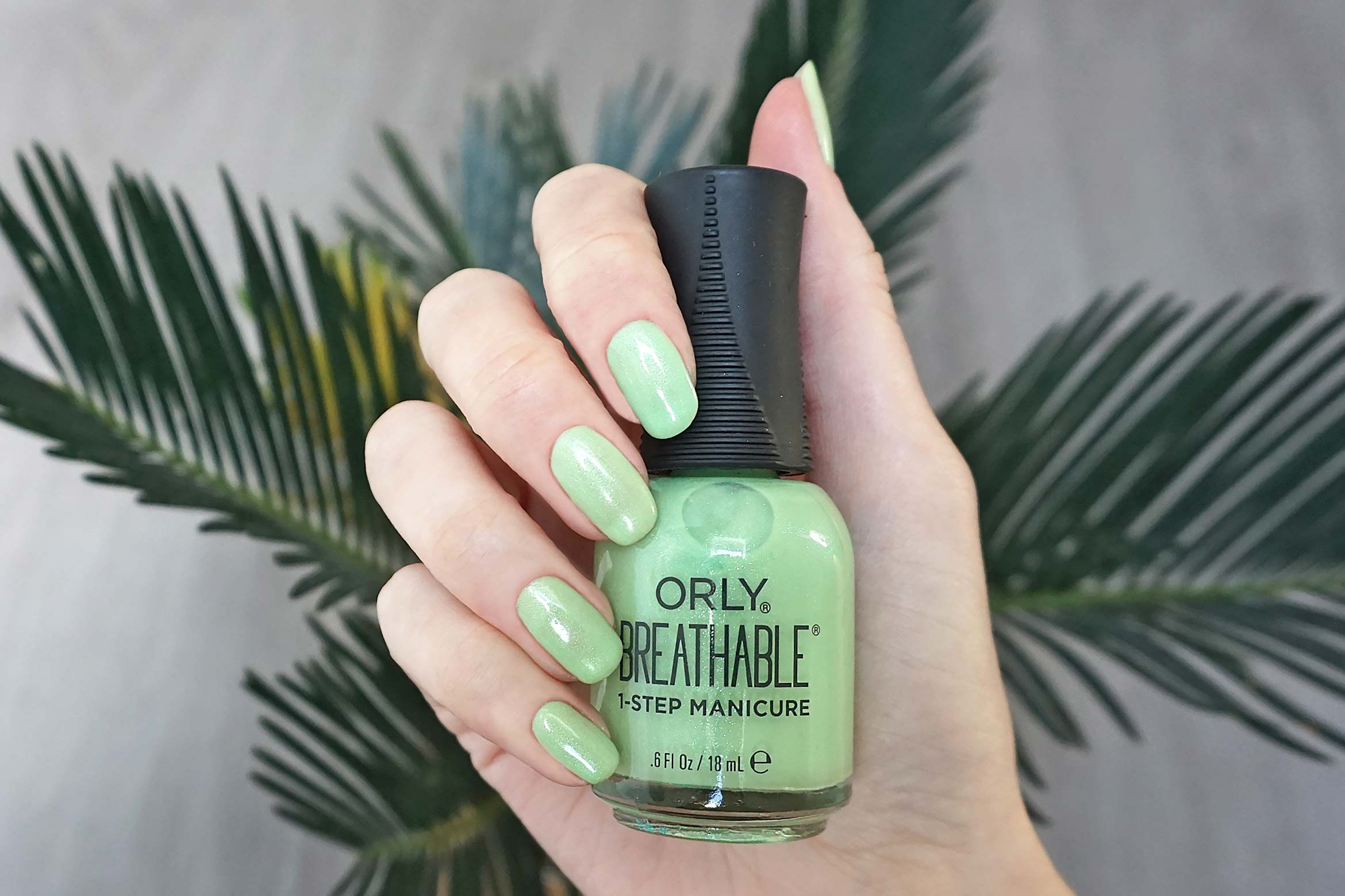 nagellak orly breathable here flora good time swatch