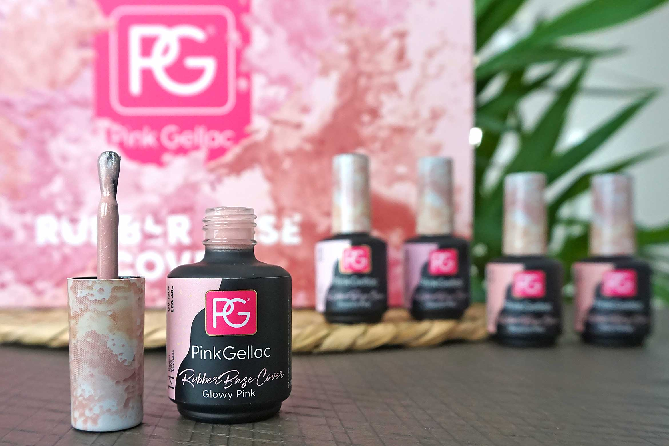 pink gellac rubber base cover swatches