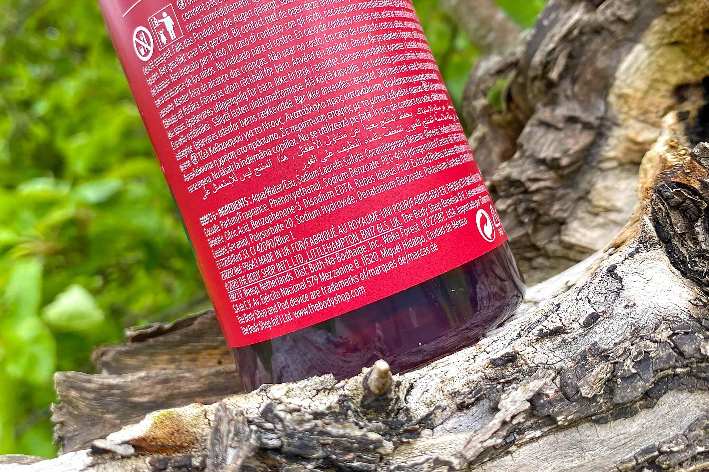 the body shop fresh raspberry shower gel ingredienten review