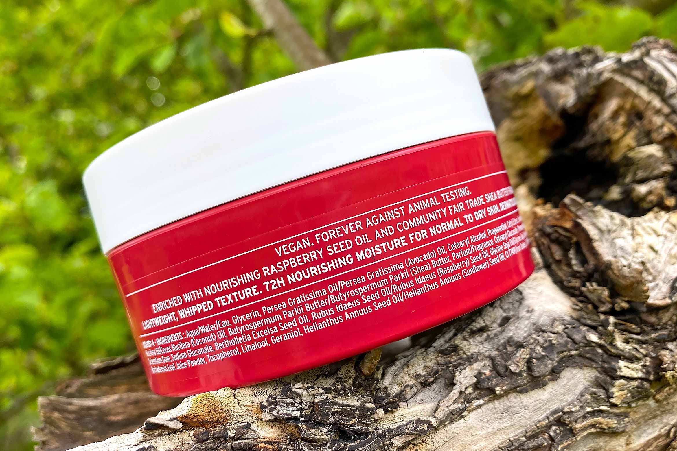 the body shop fresh raspberry whipped body butter ingredienten review