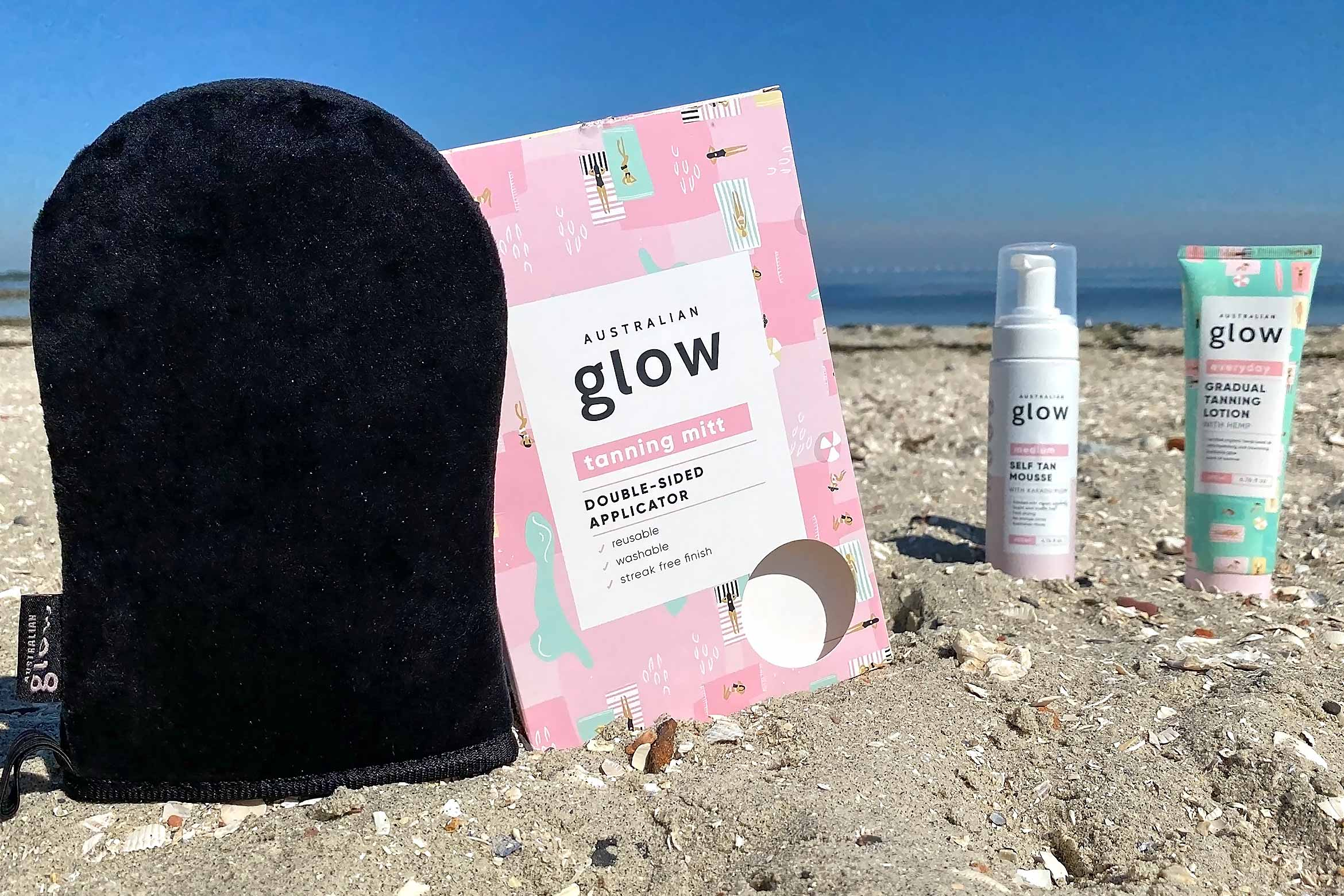 australian glow double-sided tanning mitt review