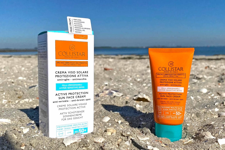 collistar active protection sun face cream spf 50+ review