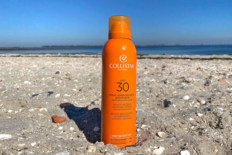 collistar moisturizing tanning spray review spf 30