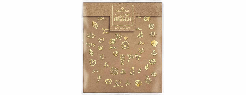 essence vintage beach nail stickers