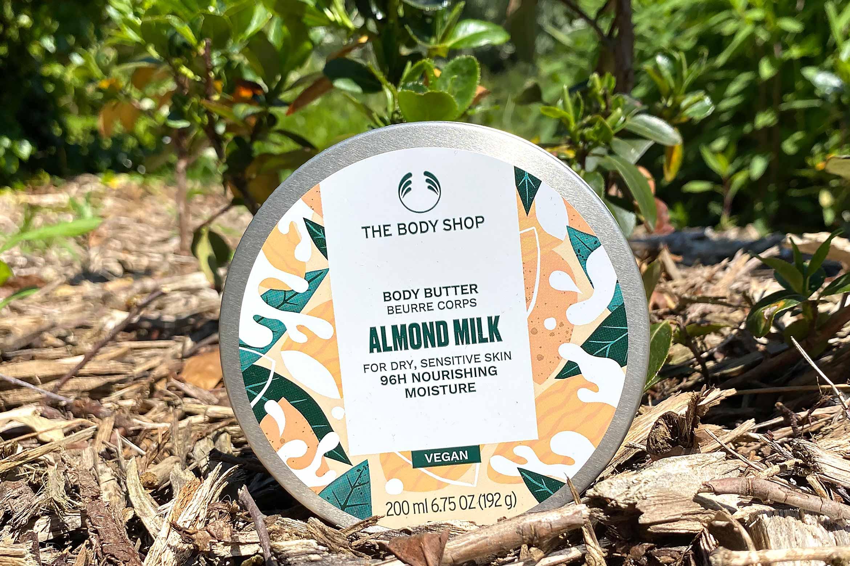 the body shop almond milk body butter review 96H vernieuwd