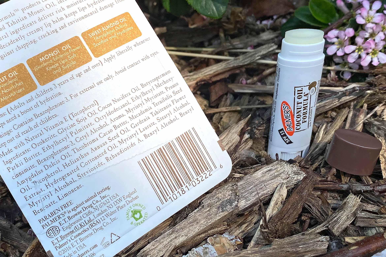 Palmer's coconut oil formula lip balm review ingredienten