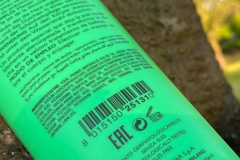 collistar talasso shower cream review ingredienten