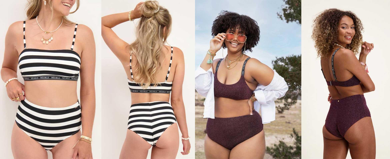 high waist bikinibroek taille accentueren