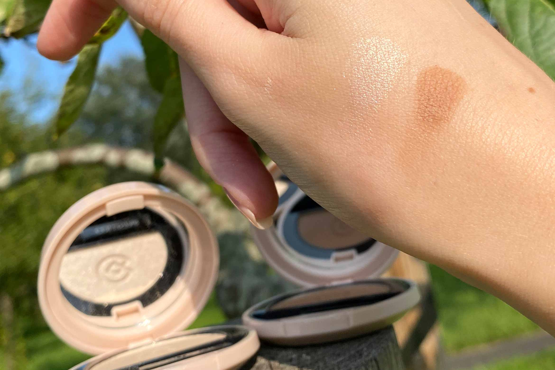 collistar impeccable compact oogschaduw swatch