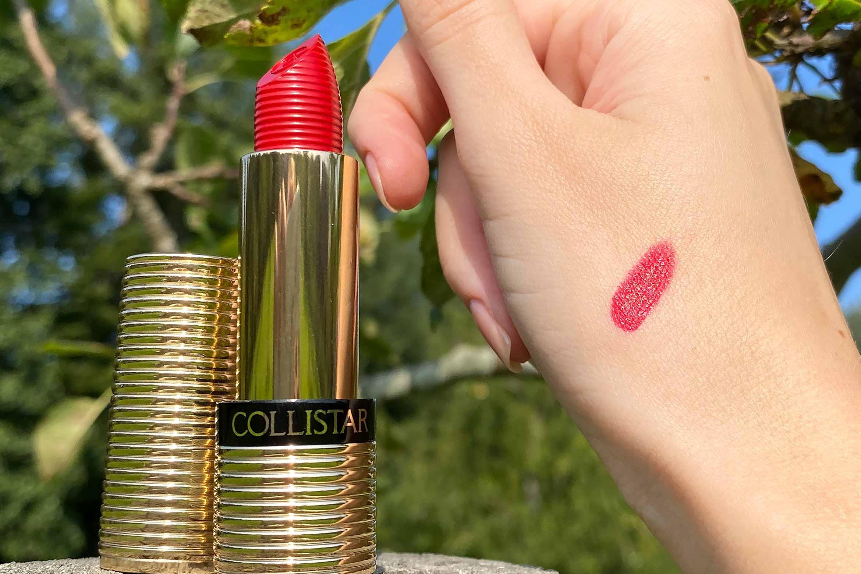 collistar unico lipstick swatch 13 carmine