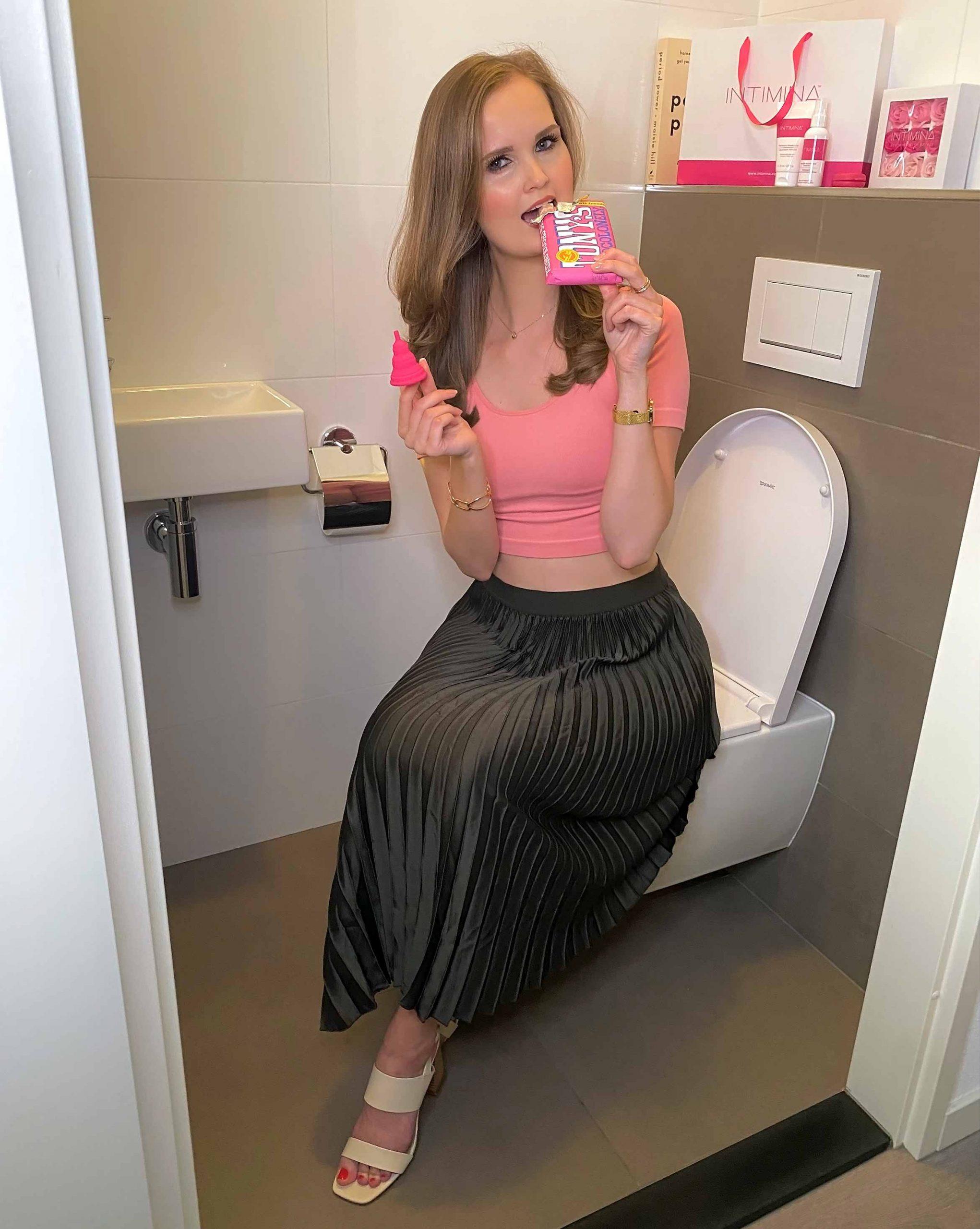 intimina menstruatie taboe menstruatiecup ongesteld chocolade