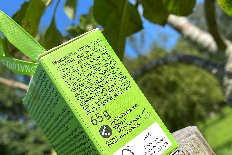 kruidvat natures repair shampoo bar review ingredienten