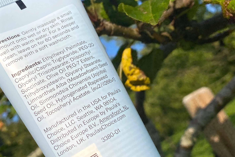 paula's choice omega+ complex reinigingsbalsem ingredienten review