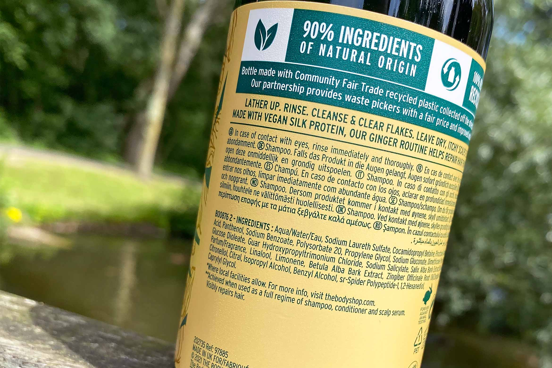 the body shop ginger anti-dandruff shampoo ingredienten