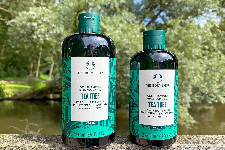 the body shop tea tree purifying balancing shampoo conditioner