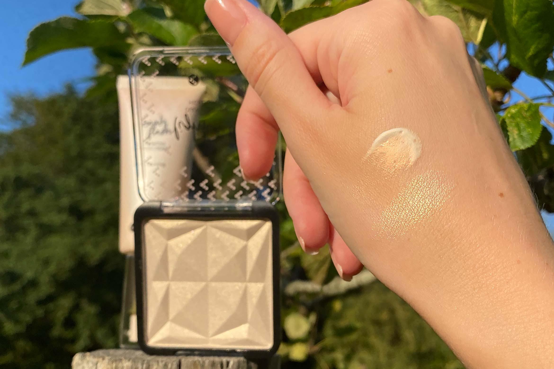 kruidvat diamond glow highlighter swatch strobing cream review