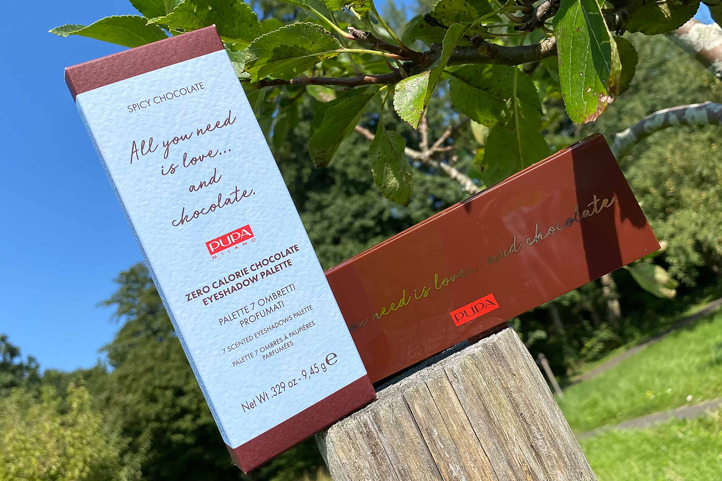 pupa all you need is love... and chocolate eyeshadow palette review