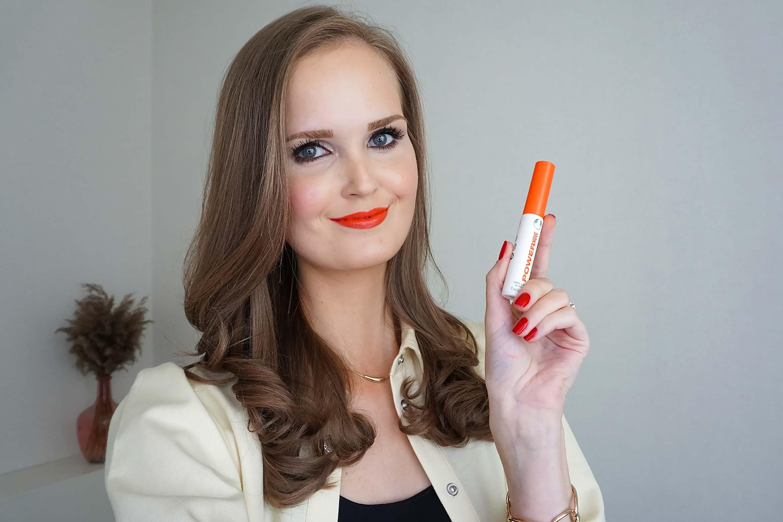the body shop speak up vinyl lip gloss swatch power move
