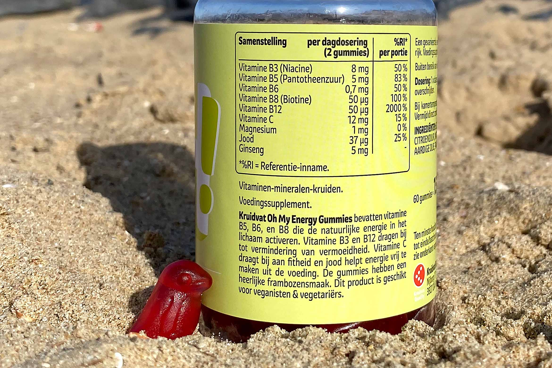 kruidvat oh my energy gummies ingredienten bestanddelen vitamines review