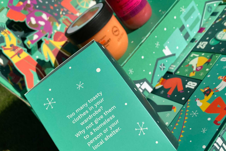 the body shop share love joy ultimate adventskalender inhoud unboxing tekst text